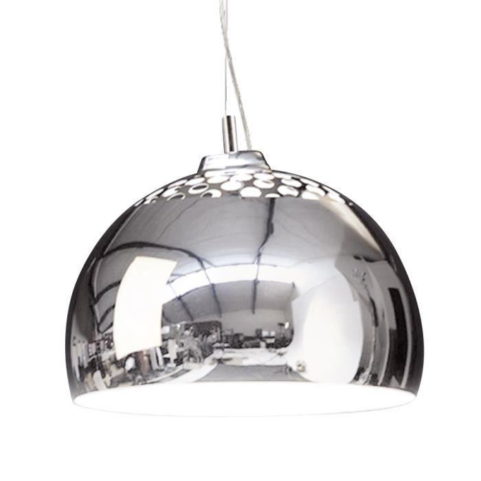 Lampe 39 pikto 39 suspendue design en forme de boulee achat for Suspension metal cuisine