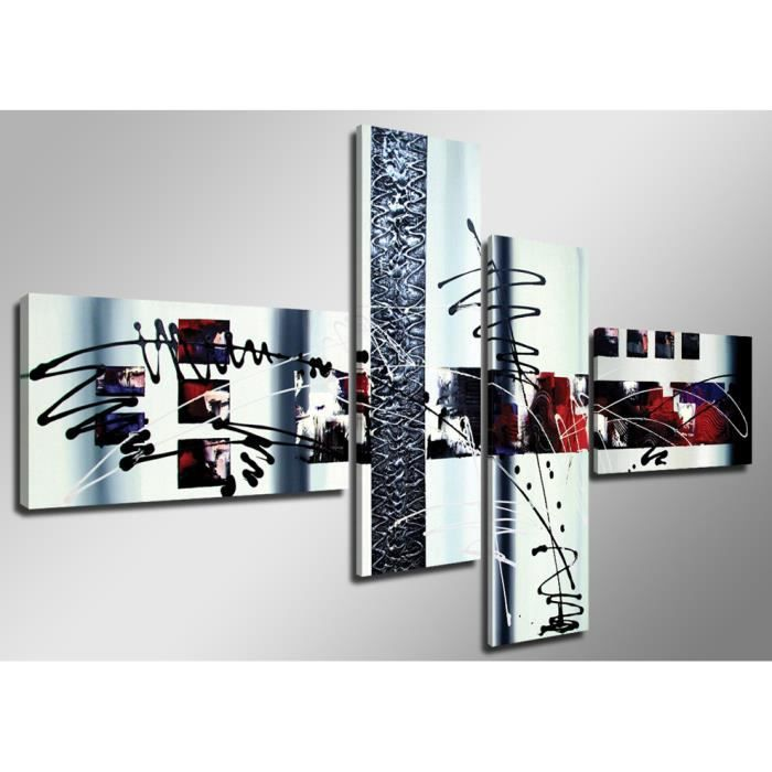 Tableau moderne imprim 160x70 cm abstrait achat vente tableau toile - Cadre photo rouge design ...