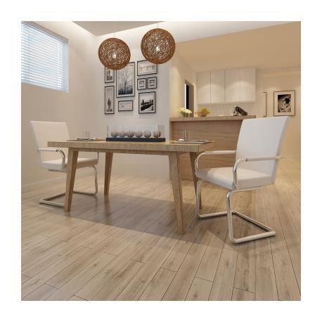 Ensemble de 2 chaises de salle manger blanc stylashop for Ensemble de salle a manger