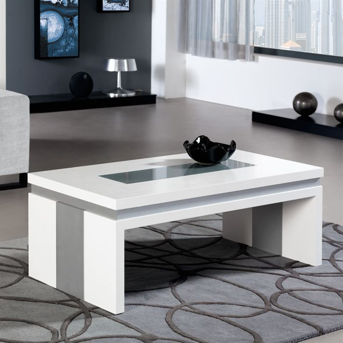 table basse relevable concetto en laque blanc achat vente table basse table basse relevable. Black Bedroom Furniture Sets. Home Design Ideas