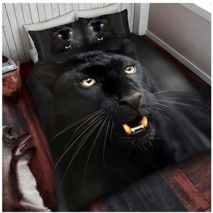 roi de panth re noire taille housse de couette et taie d oreiller set achat vente housse de. Black Bedroom Furniture Sets. Home Design Ideas