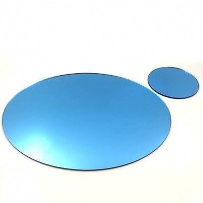 8 miroir bleu napperons ovales et sous verres achat for Miroir 40x150