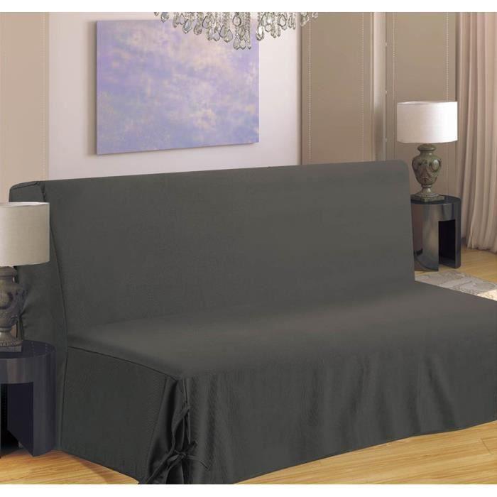 Housse de canap bz 140x190 cm gris achat vente housse de canape soldes - Housse de canape gris ...