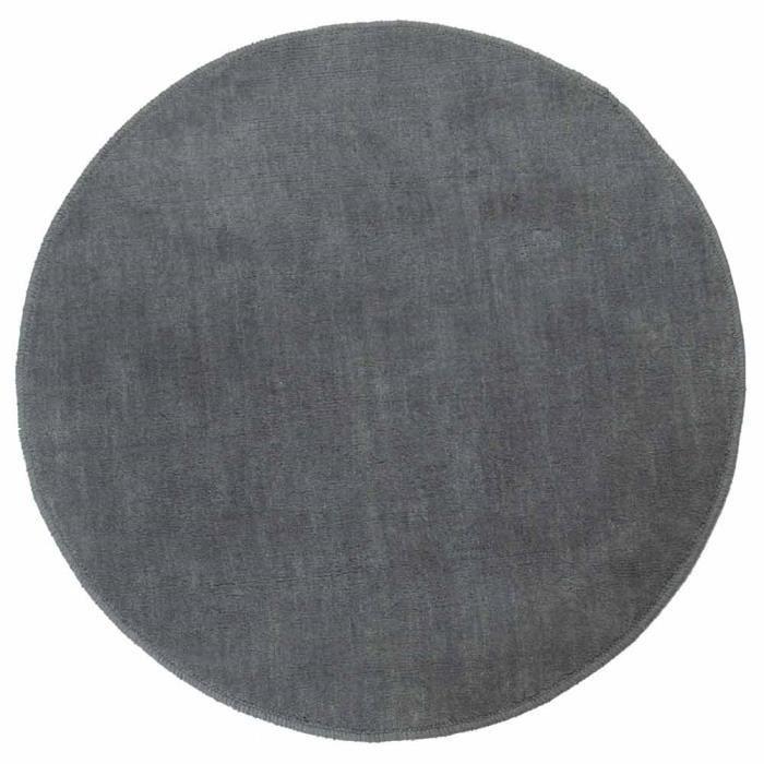 tapis rond tuft coloris gris 70 cm de diam tre achat vente tapis soldes d t cdiscount. Black Bedroom Furniture Sets. Home Design Ideas