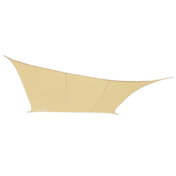 voile d 39 ombrage sable du d sert rectangle 4x3m imperm able 160g m2 kookaburra achat. Black Bedroom Furniture Sets. Home Design Ideas