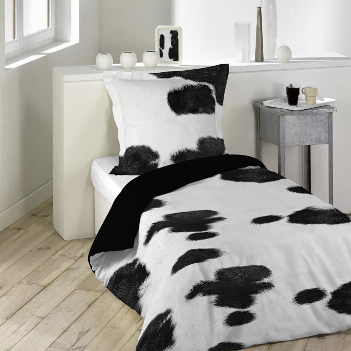 parure de couette 2 pi ces 140x200 western achat vente parure de couette soldes d t. Black Bedroom Furniture Sets. Home Design Ideas