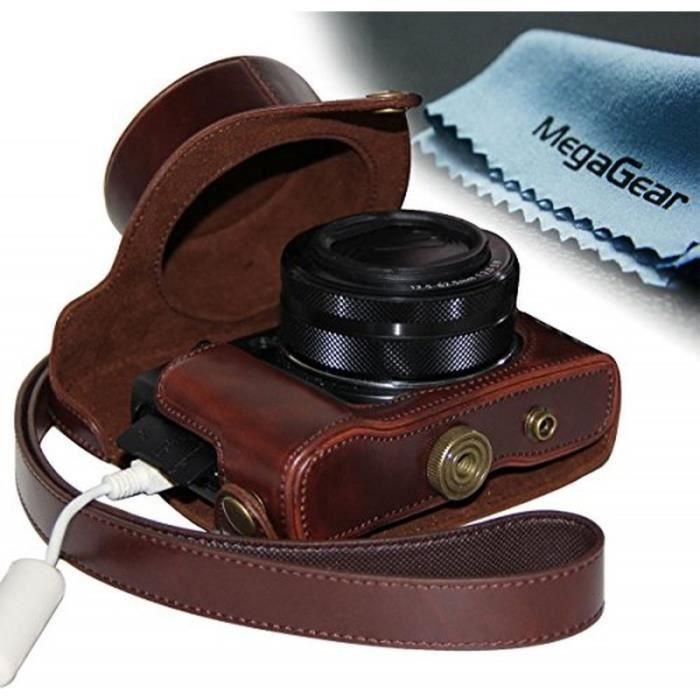 Housse de protection de l 39 appareil photo en cuir camera for Housse appareil photo canon
