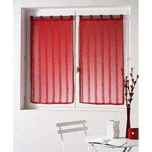 rideau rouge 60x160 achat vente rideau rouge 60x160 pas cher cdiscount. Black Bedroom Furniture Sets. Home Design Ideas