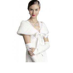 echarpe foulard etole femme pour mariage fausse fourrure ou ivoir - Etole Mariage Ivoire