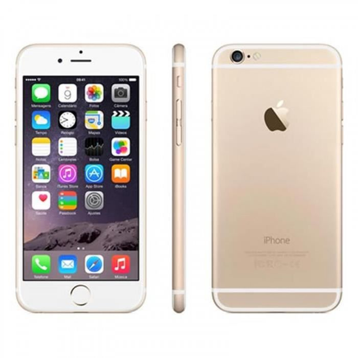 apple iphone 6 plus 128 go or reconditionne a neuf achat. Black Bedroom Furniture Sets. Home Design Ideas