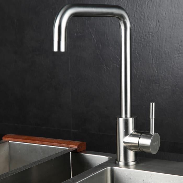 kinse robinet de cuisine robinet d 39 vier mitigeur pour l 39 eau chaude et froide robinetterie de. Black Bedroom Furniture Sets. Home Design Ideas