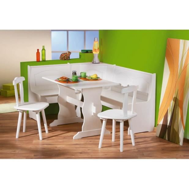 coin repas 1 banc d 39 angle 1 table 2 chaises pin. Black Bedroom Furniture Sets. Home Design Ideas