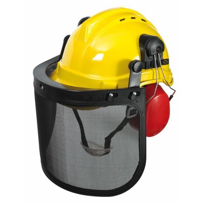casque forestier avec visi re et oreillette achat vente casque anti bruit cdiscount. Black Bedroom Furniture Sets. Home Design Ideas