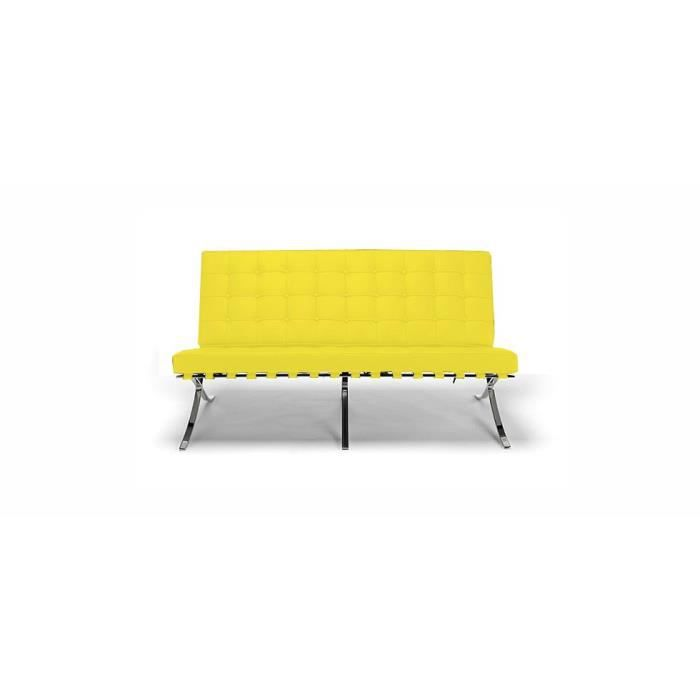 Canap barcelona inspir mies van der rohe 2 place achat for Canape barcelona