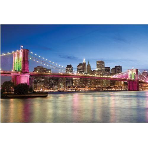 poster le pont de brooklyn de nuit achat vente affiche soldes cdiscount. Black Bedroom Furniture Sets. Home Design Ideas