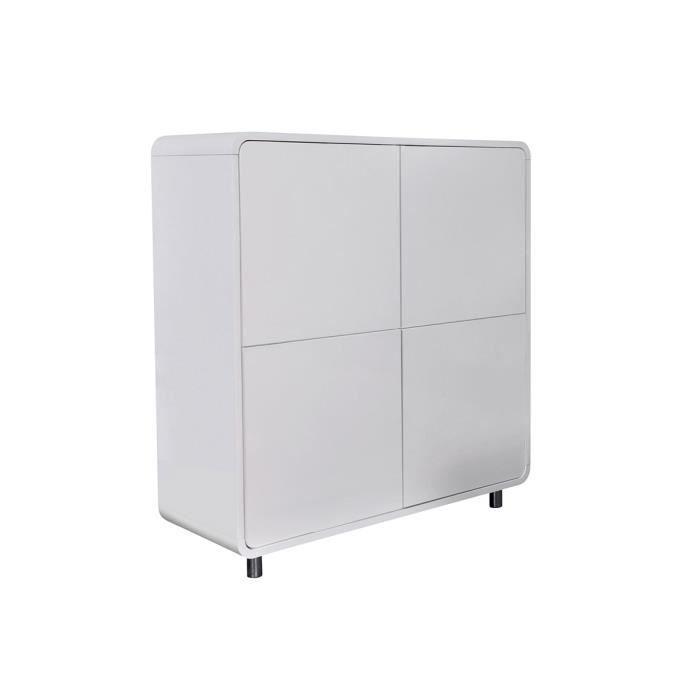 meuble de rangement blanc 4 portes montreal achat vente vitrine argentier meuble de. Black Bedroom Furniture Sets. Home Design Ideas