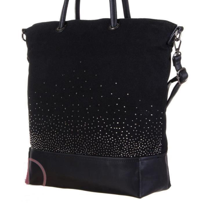 Sac a main dudlin firenze noir et strass noir achat vente sac main sac a main dudlin for Bureaux adolescente noir et strass