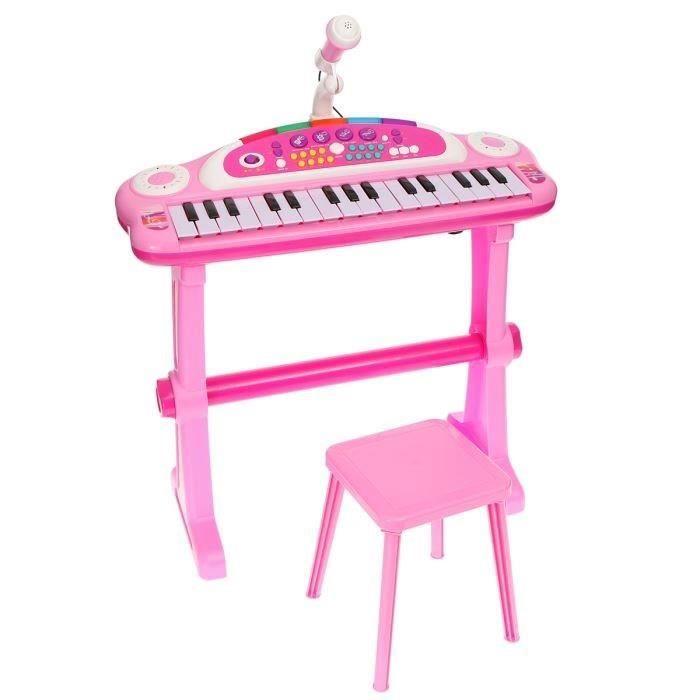 clavier musical avec microphone rose achat vente instrument de musique cdiscount. Black Bedroom Furniture Sets. Home Design Ideas