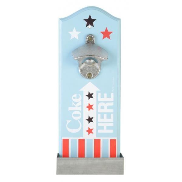 Decapsuleur mural coke here americana achat vente tire for Decapsuleur mural