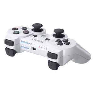 MANETTE CONSOLE Manette compatible PS3 Blanche