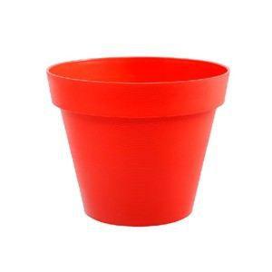 Pot toscane spring rouge corail diam tre 48 cm achat for Pot exterieur xxl