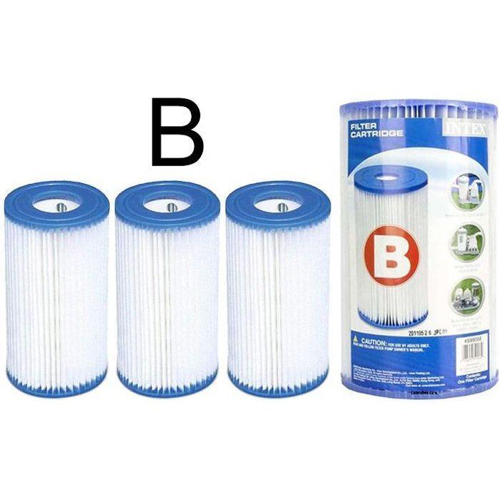 3 cartouches de filtration intex pour filtre piscine - Cartouche filtre piscine magiline ...