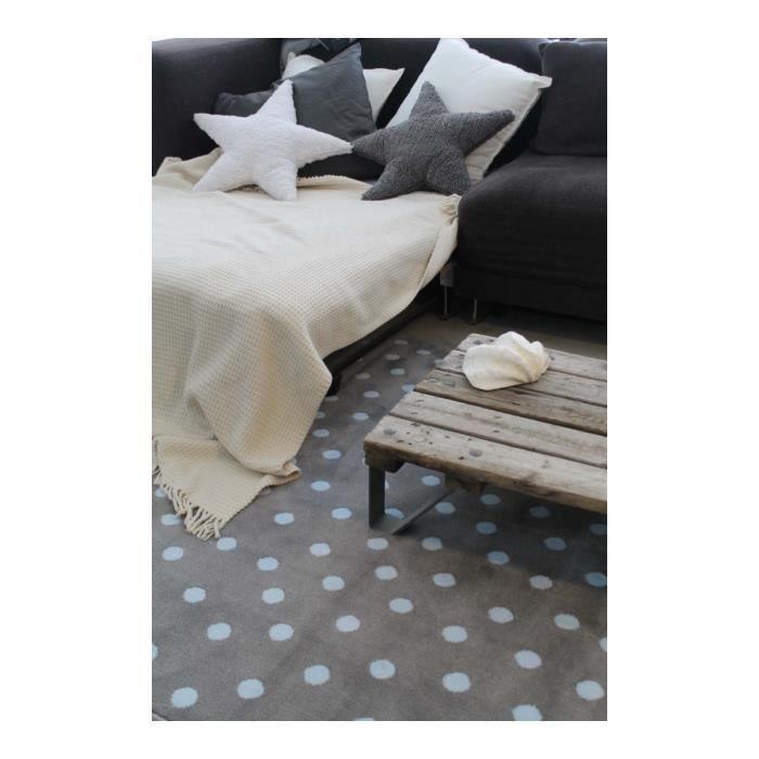 tapis taupe et gris pour chambre d 39 enfant dots lorena canals 200x300cm taupe achat vente. Black Bedroom Furniture Sets. Home Design Ideas