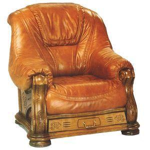 Fauteuil cuir et bois boiserie finition ch ne t achat vente fauteuil mar - Fauteuil bois et cuir ...