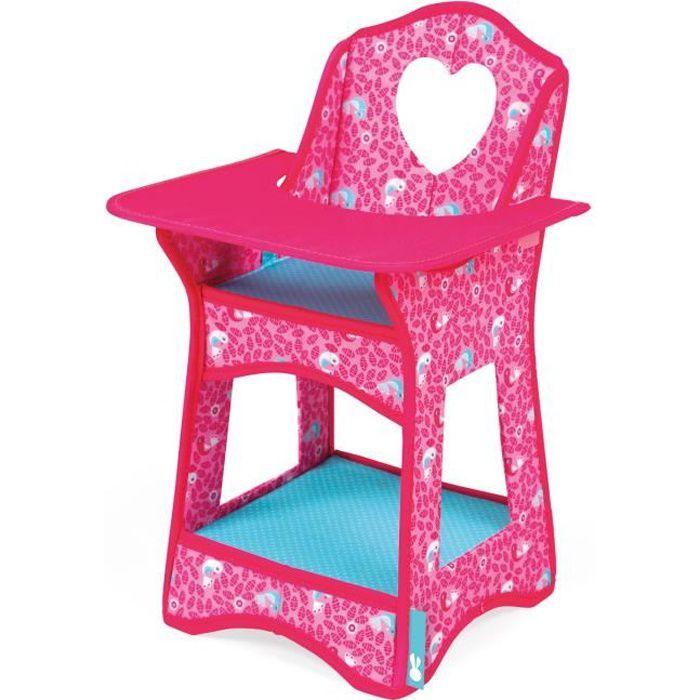 chaise haute pour poup es birdy paradise achat vente accessoire poup e cdiscount. Black Bedroom Furniture Sets. Home Design Ideas