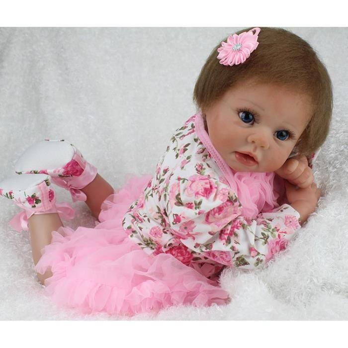 22 pouces npkdoll bebe reborn doux b b r aliste poup e. Black Bedroom Furniture Sets. Home Design Ideas