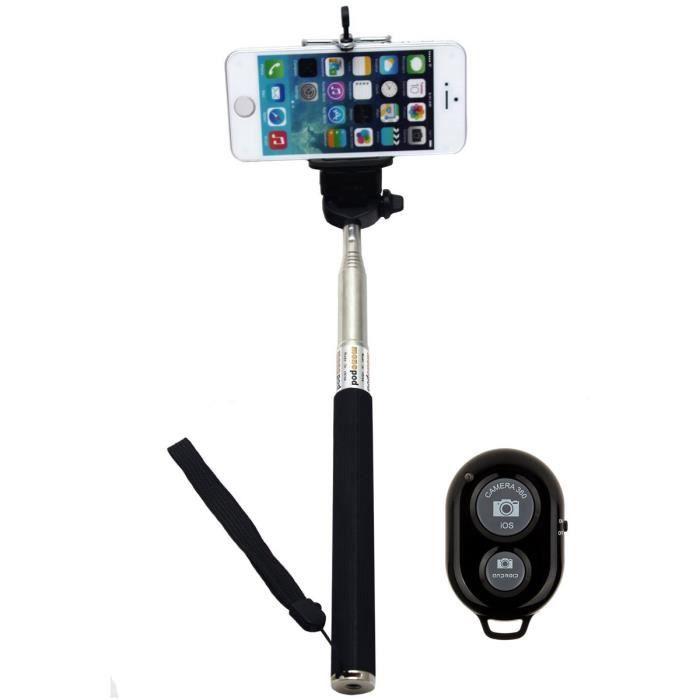 perche de selfie r glable avec bluetooth sans fil d clencheur distance pour iphone 5s iphone. Black Bedroom Furniture Sets. Home Design Ideas