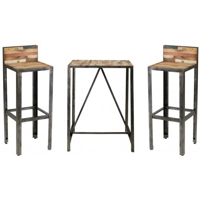 ensemble bar besi 1 table 2 tabourets achat vente mange debout ensemble bar besi 1 table. Black Bedroom Furniture Sets. Home Design Ideas