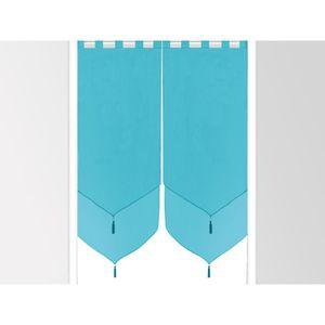 paire de voilages doubles uni turquoise achat vente rideau 100 polyester cdiscount. Black Bedroom Furniture Sets. Home Design Ideas