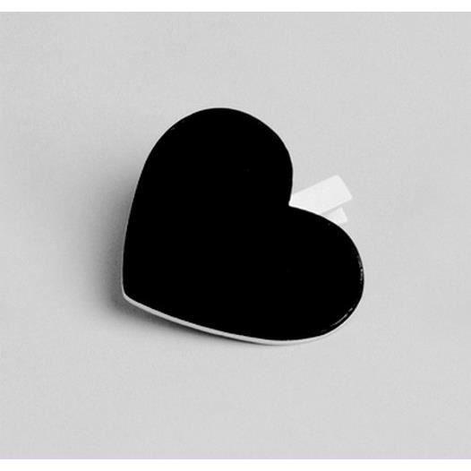 coeur ardoise sur pince en bois couleur ivoire achat vente marque place cdiscount. Black Bedroom Furniture Sets. Home Design Ideas