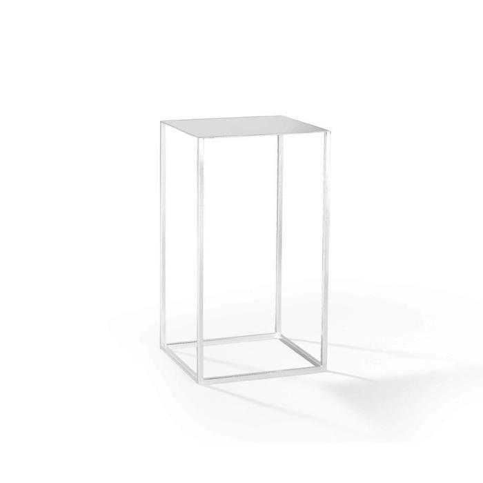 sellette en acier blanc achat vente console sellette. Black Bedroom Furniture Sets. Home Design Ideas