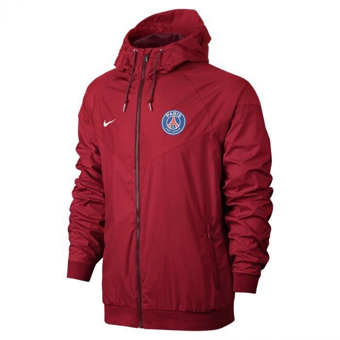 veste coupe vent nike psg windrunner 810301 657 rouge rouge achat vente veste de sport. Black Bedroom Furniture Sets. Home Design Ideas