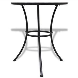 table de jardin en mosaique achat vente table de jardin en mosaique pas cher cdiscount. Black Bedroom Furniture Sets. Home Design Ideas