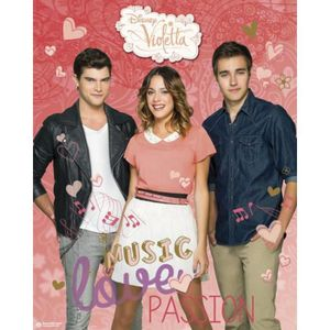 poster de violetta achat vente poster de violetta pas cher cdiscount. Black Bedroom Furniture Sets. Home Design Ideas
