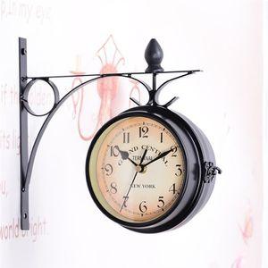 HORLOGE Horloge Mural De Style Européen Classique(Noir)