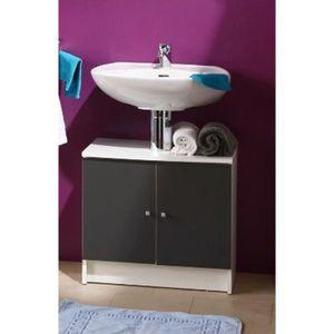meuble de salle de bain avec vasque 55 cm achat vente meuble de salle de bain avec vasque 55. Black Bedroom Furniture Sets. Home Design Ideas