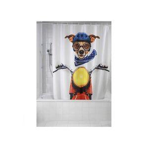 RIDEAU DE DOUCHE Rideau de Douche Biker Dog