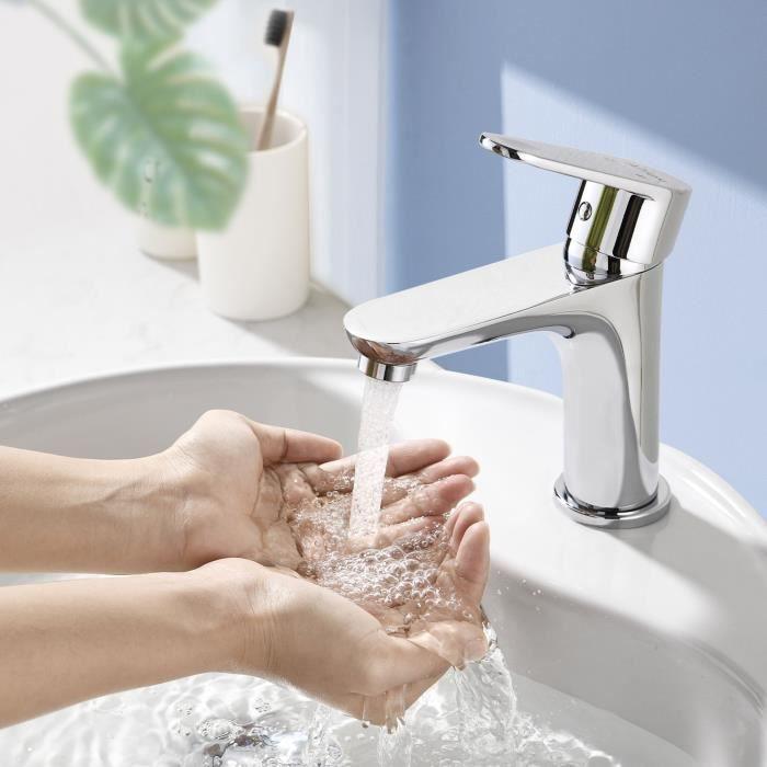 robinet cascade mitigeur pour lavabo chrom bec tiroir inclin hauteur sous le bec 120mm achat. Black Bedroom Furniture Sets. Home Design Ideas