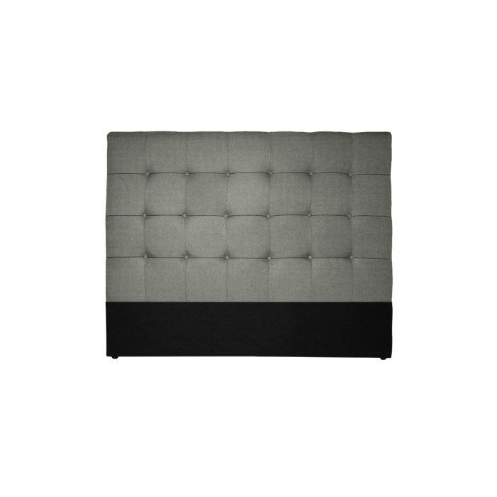 t te de lit 160 cm effet lin gris camarin achat vente. Black Bedroom Furniture Sets. Home Design Ideas