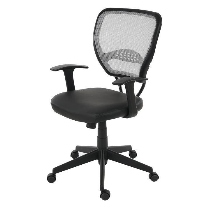 fauteuil chaise de bureau seattle charge 150kg pu gris avec accoudoirs achat vente. Black Bedroom Furniture Sets. Home Design Ideas