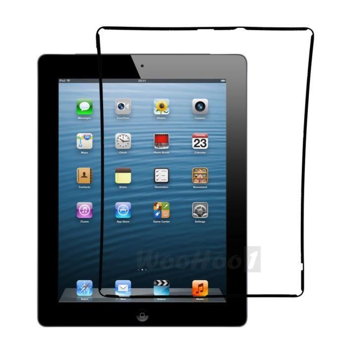 cadre joint contour ecran vitre tactile chassis pour apple ipad 2 noir achat vente dalle d. Black Bedroom Furniture Sets. Home Design Ideas
