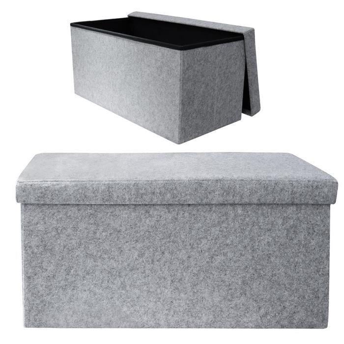 Coffre de rangement pliable arty feutrine gris gris - Coffre de rangement bebe ...