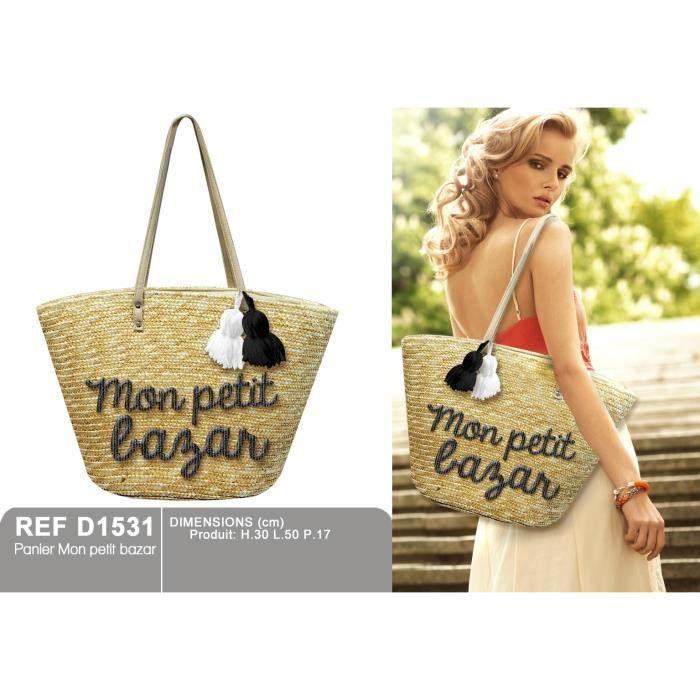 panier mon petit bazar achat vente panier sac de plage 3609810050693 cdiscount. Black Bedroom Furniture Sets. Home Design Ideas