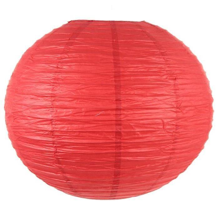 paris prix lanterne boule en papier 45cm rouge achat vente photophore lanterne cdiscount. Black Bedroom Furniture Sets. Home Design Ideas