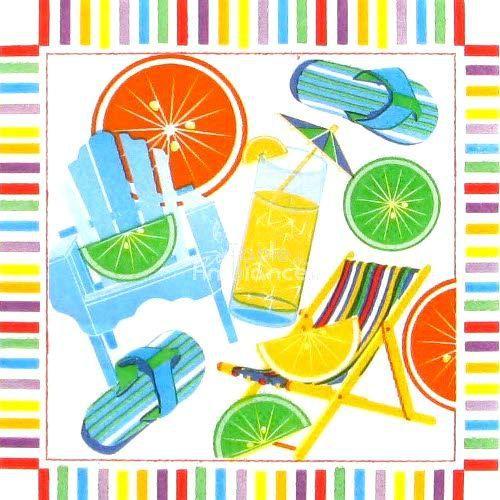 Serviette cocktail vacances achat vente serviette jetable cdiscount - Linge maison de vacances ...