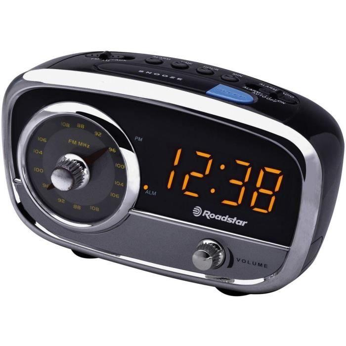 roadstar clr 2560 radio r veil fm vintage r veil par alarme ou radio entr e auxiliaire pour. Black Bedroom Furniture Sets. Home Design Ideas